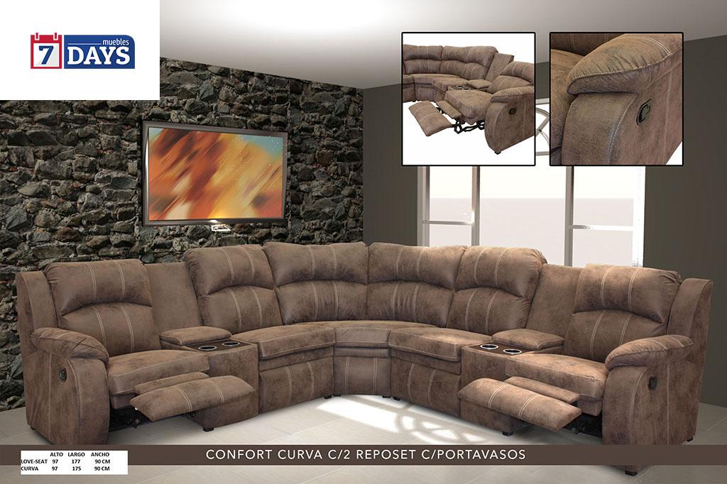 Curva Confort c/ Reposet / Porta Vasos